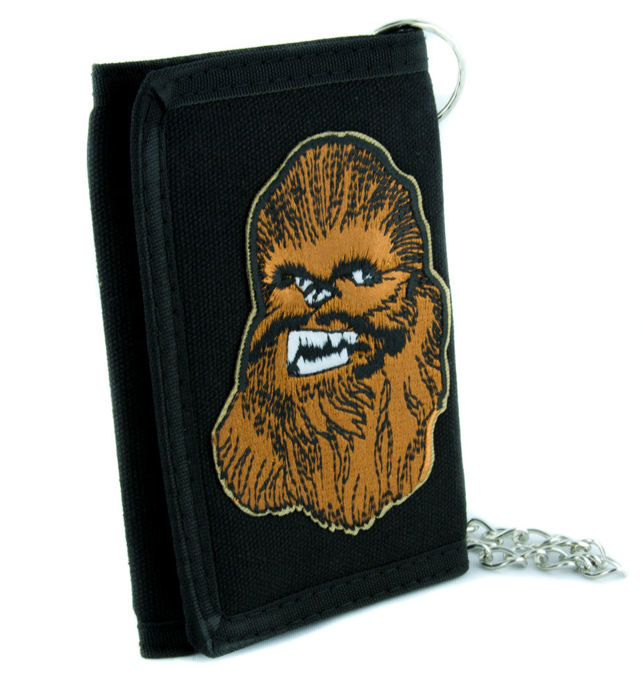 Chewbacca Wookie Star Wars Tri-fold Wallet with Chain Scifi Clothing