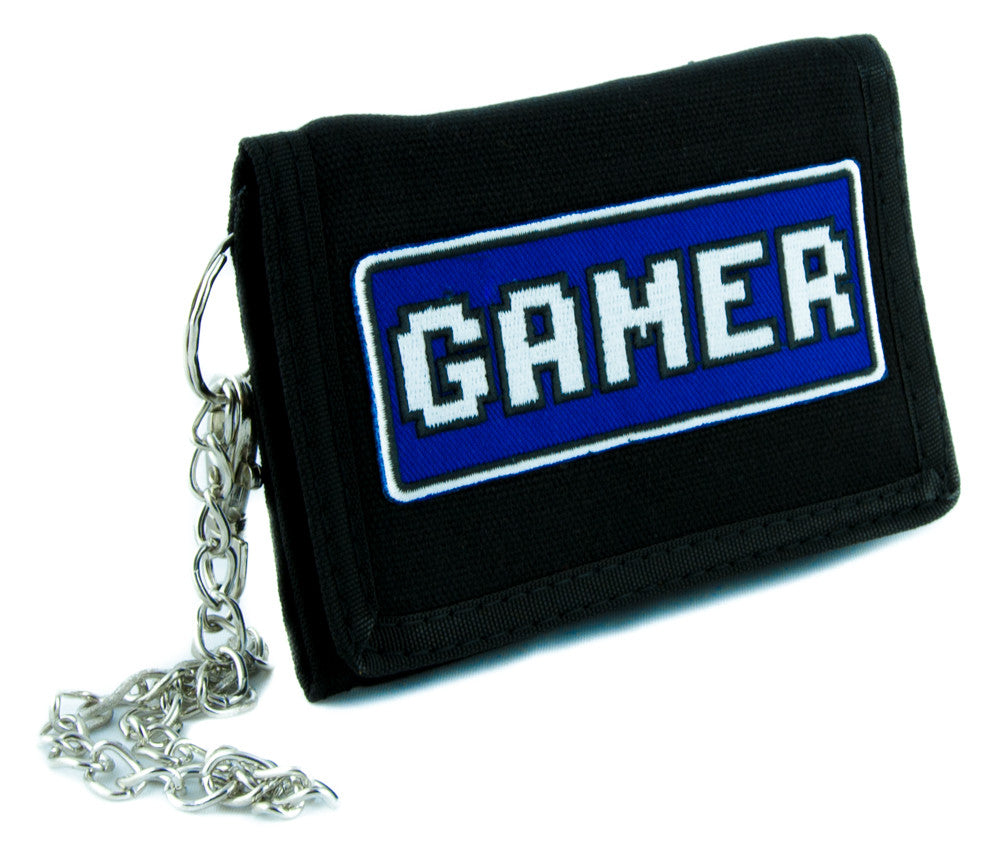 Gamer Tri-fold Wallet with Chain Alternative Clothing