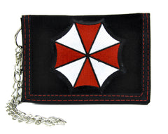 Resident Evil Umbrella Corporation Tri-fold Wallet with Chain Alternative Clothing