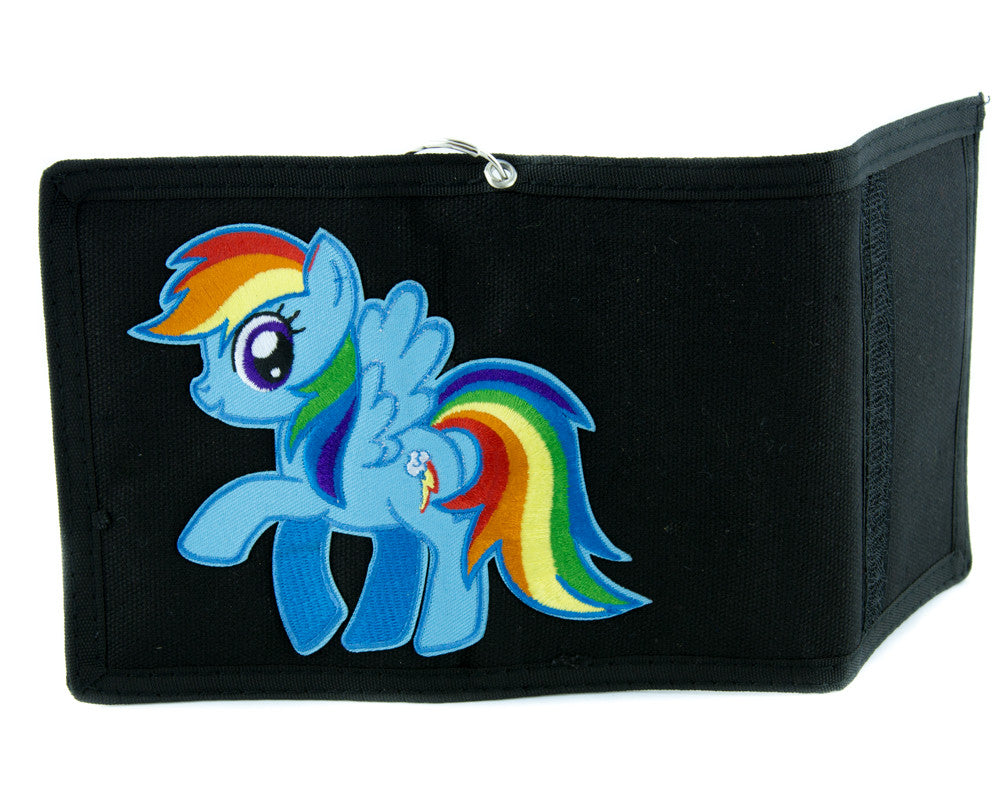 My Little Pony Rainbow Dash Tri-fold Wallet with Chain Alternative Clothing