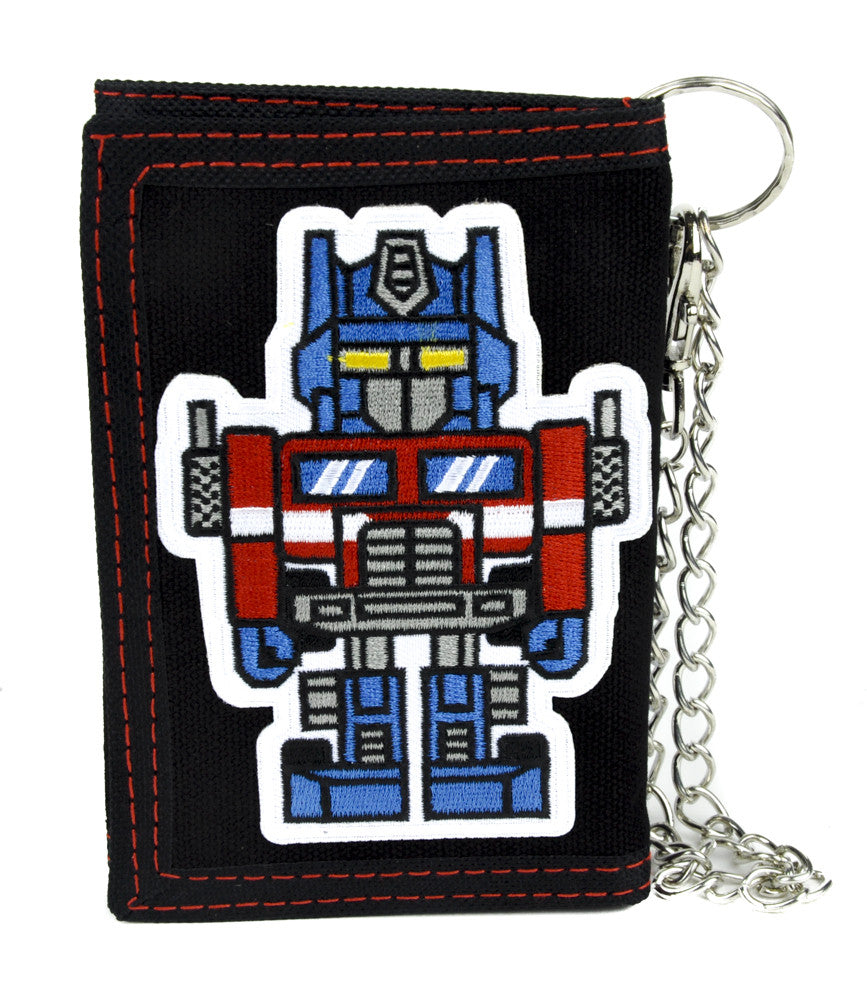 Transformers Optimus Prime Tri-fold Wallet with Chain Alternative Clothing