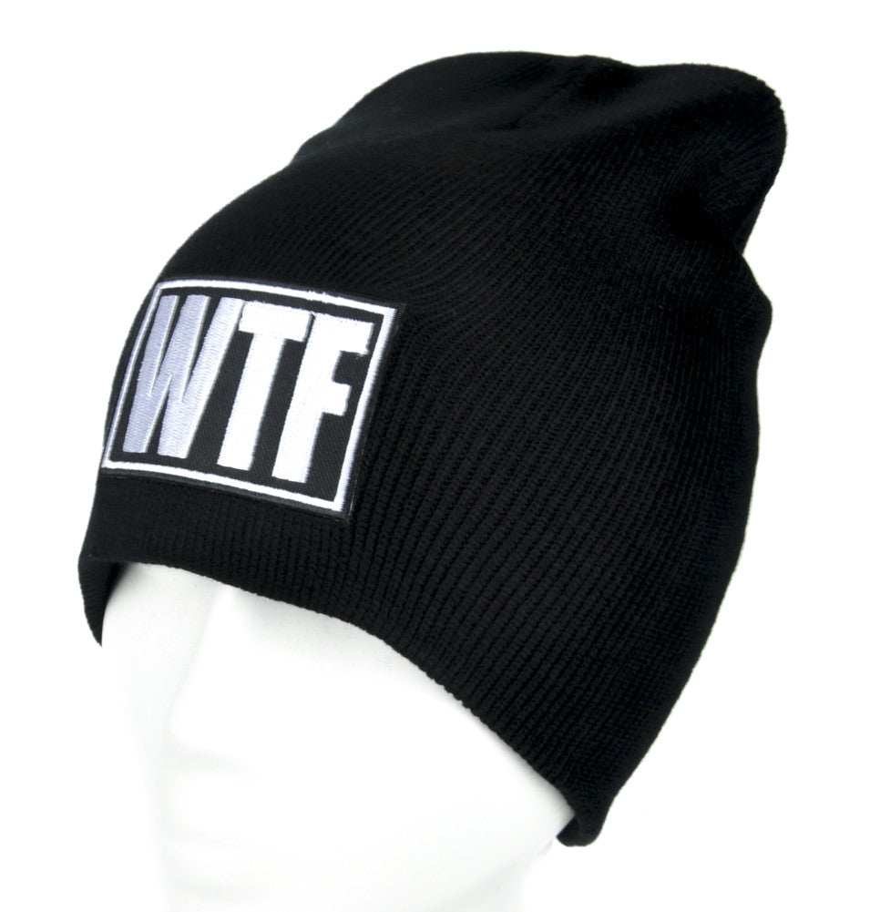 WTF Meme Beanie Alternative Clothing Knit Cap What the F*ck