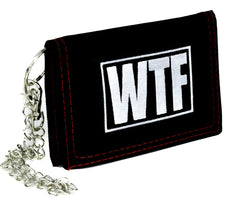 WTF Meme Tri-fold Wallet with Chain Alternative Clothing