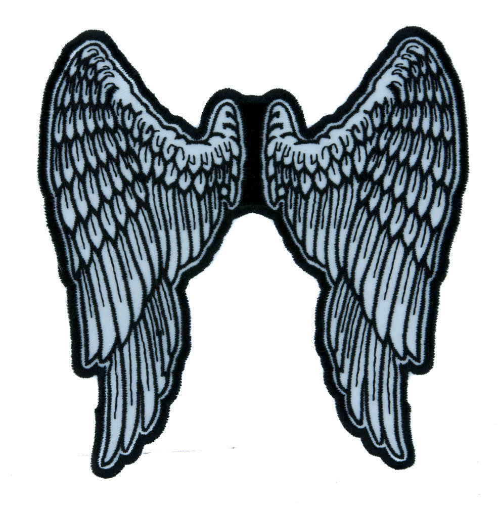 The Walking Dead Daryl Angel Wings Patch Iron on Applique Alternative Clothing Biker Gang