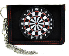 Dart Board Game Tri-Fold Wallet with Chain Alternative Clothing Novelty Bar Gift