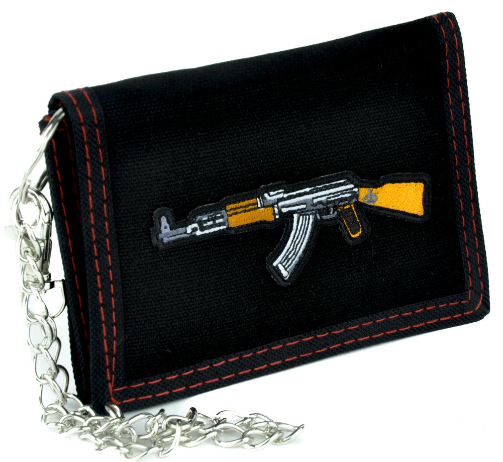 Call of Duty AK-47 Assault Rifle Tri-fold Wallet with Chain Alternative Clothing