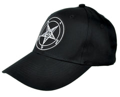 Sabbatic Baphomet Goat Head Hat Baseball Cap Occult Clothing