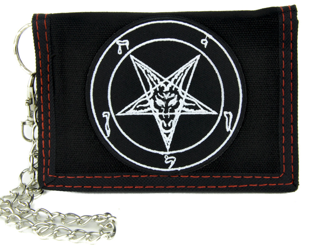 Sabbatic Baphomet Tri-fold Wallet with Chain Occult Clothing