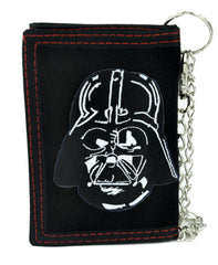 Darth Vader Helemt Tri-fold Wallet with Chain Alternative Clothing