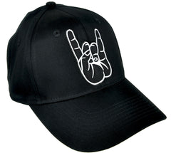 Horns Up Metal Sign Hat Baseball Cap Heavy Metal Clothing