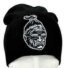 Human Shrunken Head Beanie Freak Show Clothing Knit Cap