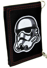 White Stormtrooper Helmet Tri-fold Wallet with Chain Science Fiction Clothing