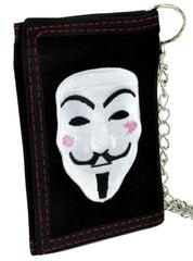 V for Vendetta Mask Tri-fold Wallet with Chain Alternative Clothing