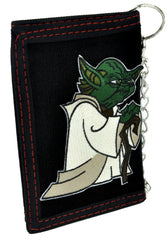 Master Jedi Yoda Tri-fold Wallet with Chain Science Fiction Clothing