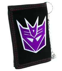 Decepticons Transformers Tri-fold Wallet with Chain Alternative Clothing Megatron