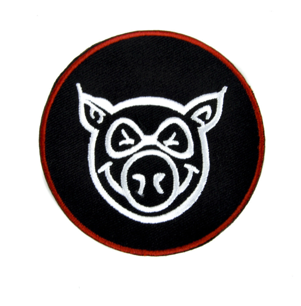 Angry Mean Pig Patch Iron on Applique Alternative Clothing
