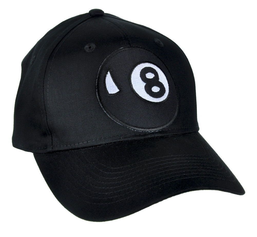Eight Ball Hat Baseball Cap Alternative Clothing Pool Hustler