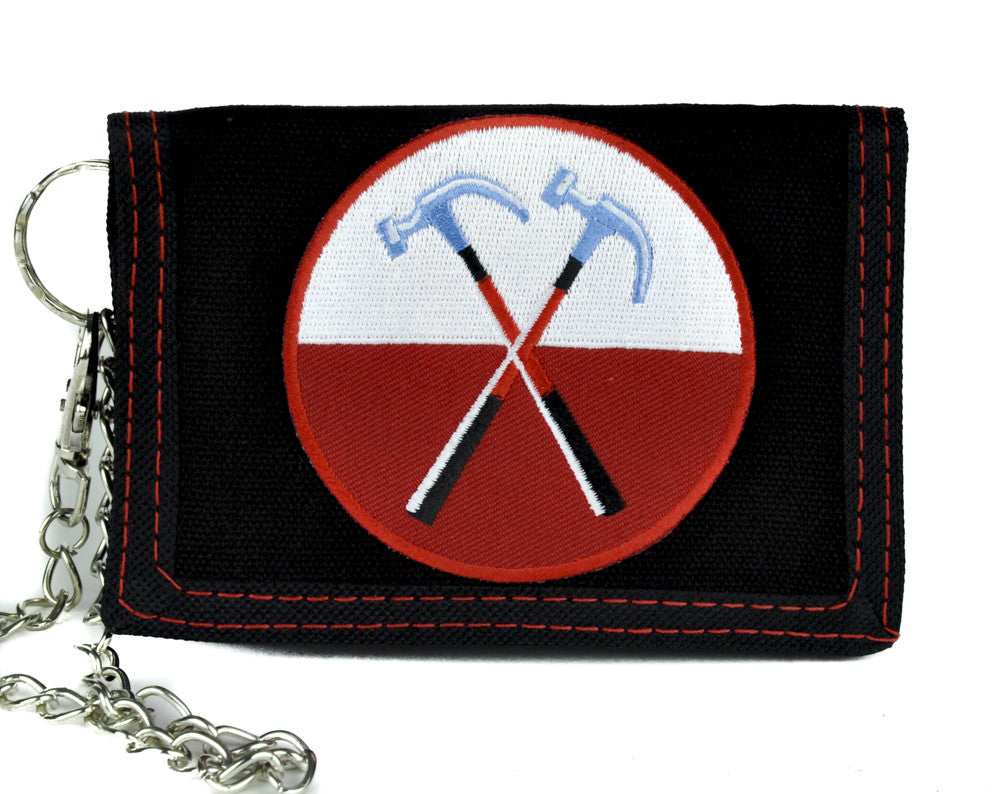 Pink Floyd The Wall Hammers Tri-fold Wallet with Chain Alternative Clothing