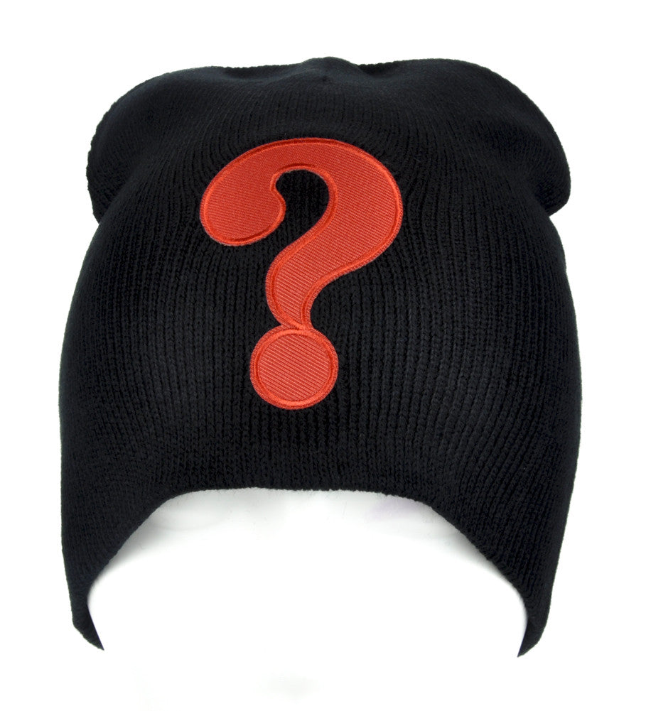 Question Mark ? Beanie Alternative Clothing Knit Cap