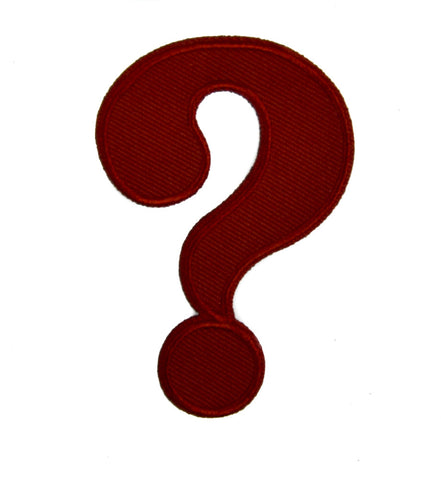 ? Question Mark Patch Iron on Applique Alternative Clothing