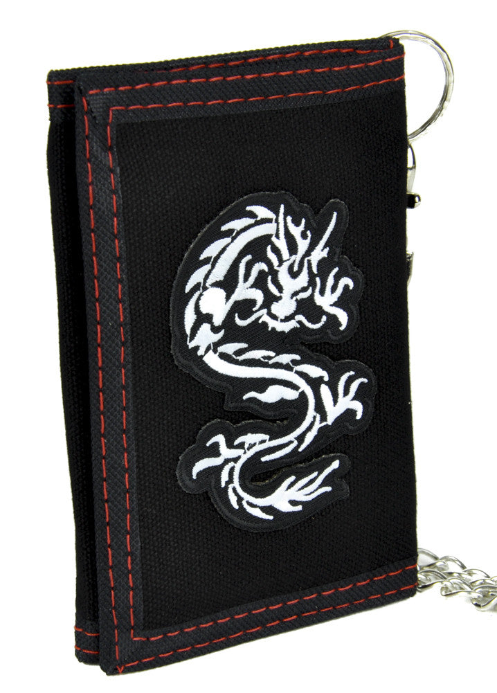 Chinese Dragon Tri-fold Wallet with Chain Alternative Clothing Into the Badlands