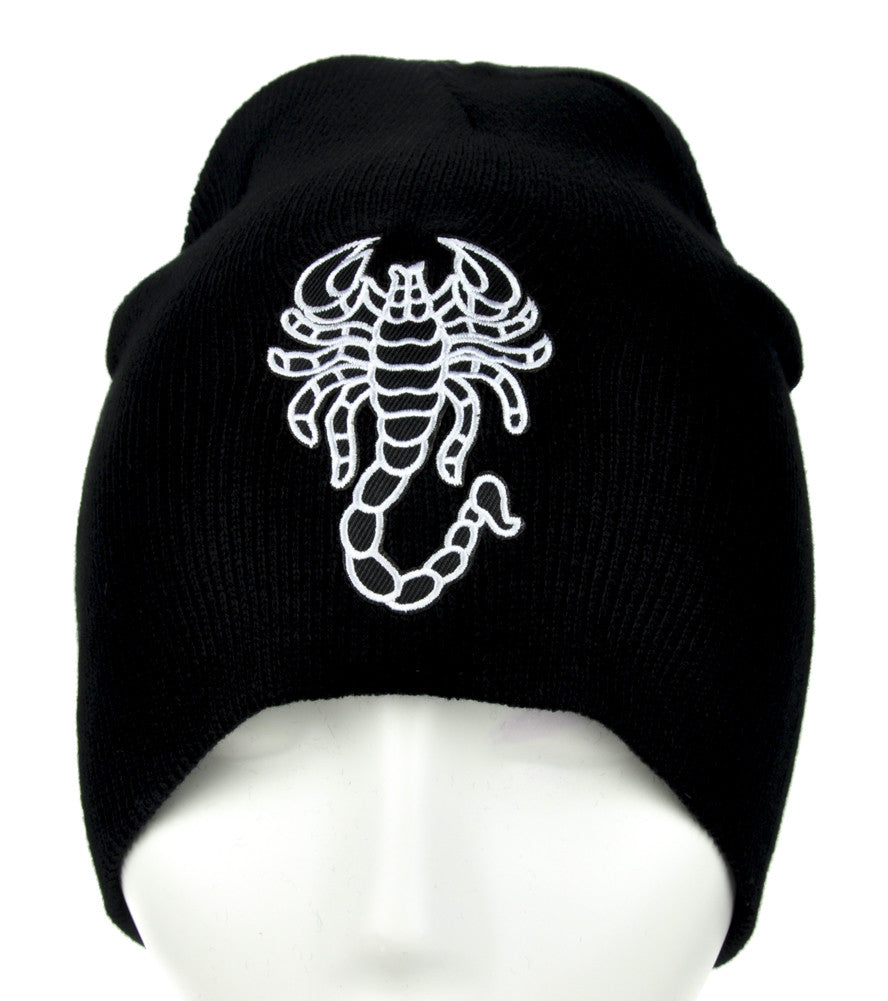 Deadly Scorpion Beanie Alternative Clothing Knit Cap Biker