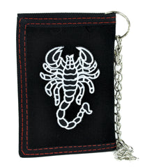 Deadly Scorpion Tri-fold Wallet with Chain Alternative Clothing Poison