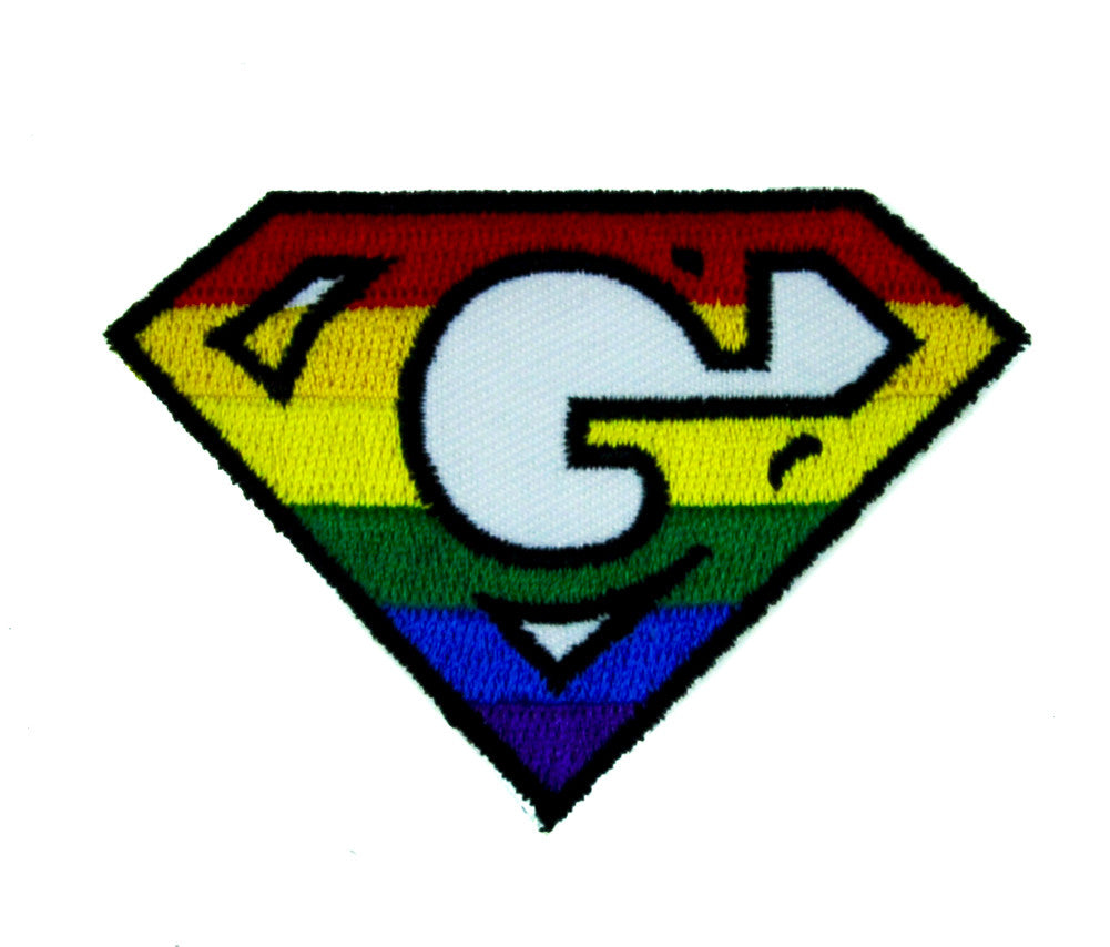 Super G Rainbow Gay Pride Patch Iron On Applique Alternative Clothing