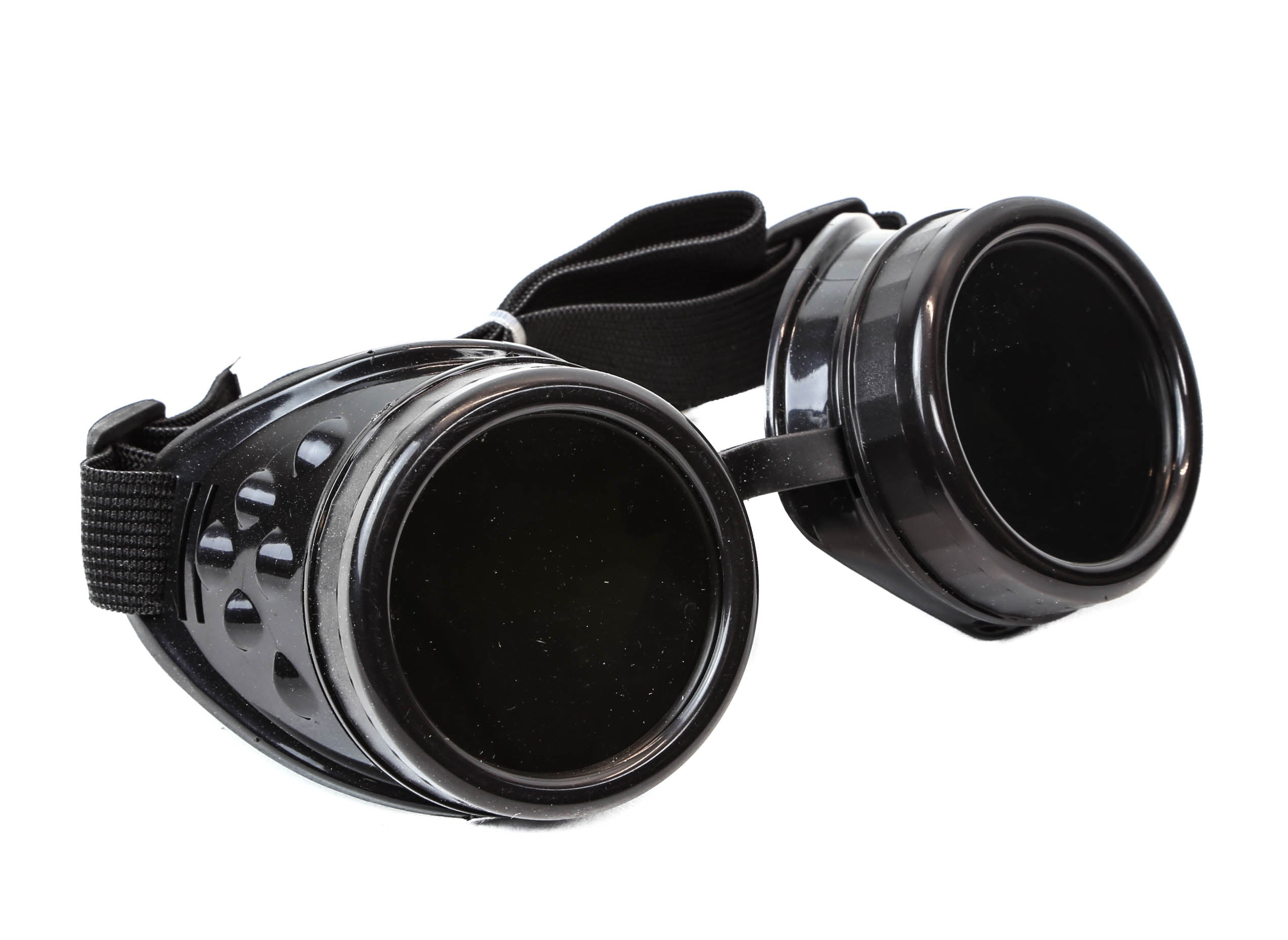 Plain Black Cosplay Goggles Mad Scientist Wielder Glasses DIY Halloween Costume