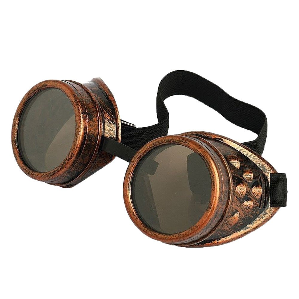Antique Copper Steampunk Cosplay Goggles Mad Scientist Wielder Glasses DIY