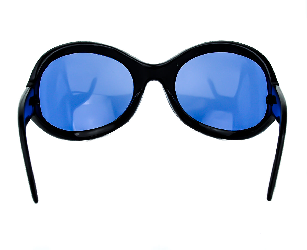 Blue Lens Oversized Sunglasses Sexy DJ Rave Fashion Glasses