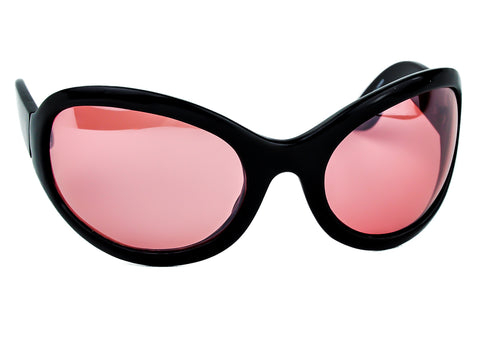 Red Lens Oversized Sunglasses Sexy DJ Rave Fashion Glasses