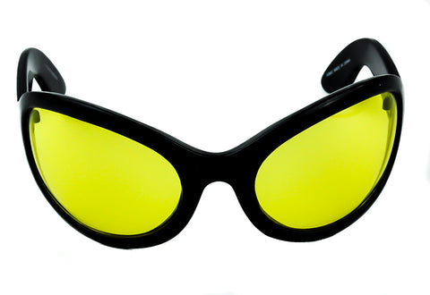 Yellow Lens Oversized Sunglasses Sexy DJ Rave Fashion Glasses