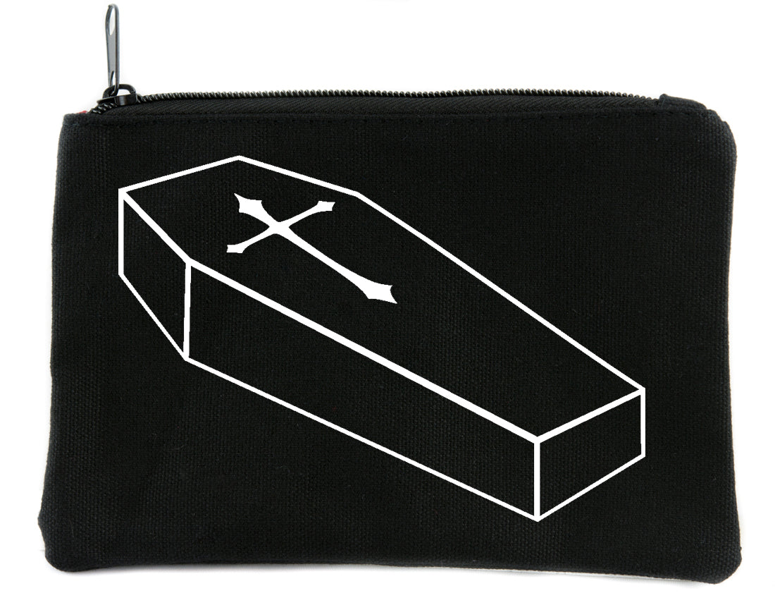 Voodoo Coffin with Cross Cosmetic Makeup Bag Alternative Gothic Accessories