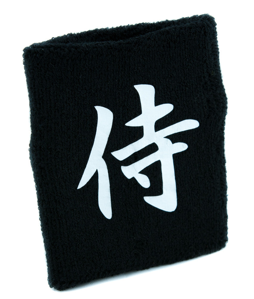 Samurai Warrior Wristband Sweatband Martial Arts Clothing Japanese Swordsman Anime