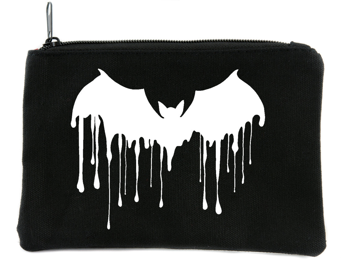 Vampire Bat Drip Cosmetic Makeup Bag Alternative Gothic Accessories