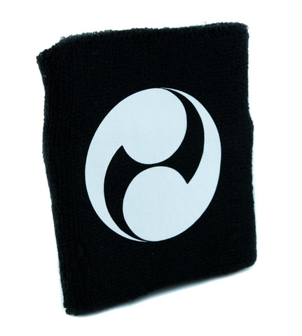 Futatsudomoe Two Fold Tomoe Wristband Sweatband Martial Arts Clothing Japanese Symbol
