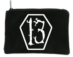 13 Number Thirteen Coffin Cosmetic Makeup Bag Alternative Gothic Deathrock