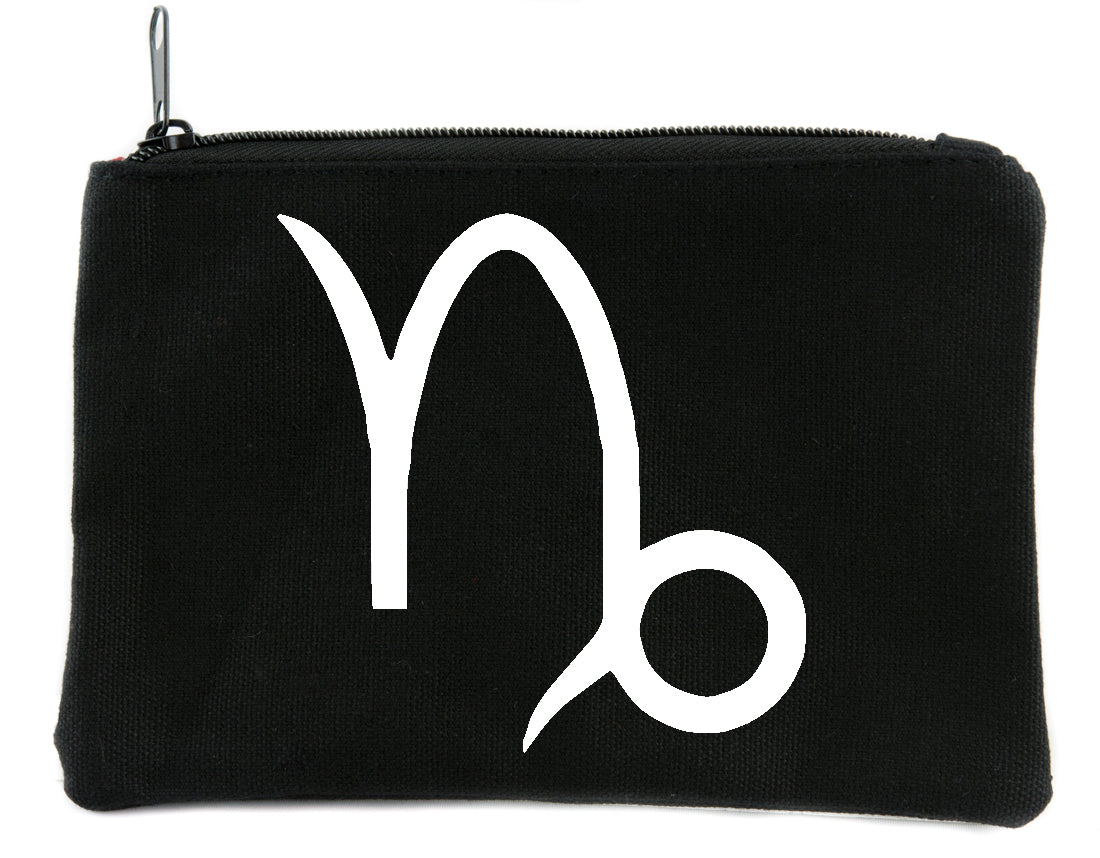 Zodiac Capricorn Sign Cosmetic Makeup Bag Astrology Horoscope The Goat