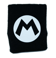Super Mario Bros. M Symbol Wristband Sweatband Alternative Clothing Nintendo Gamer