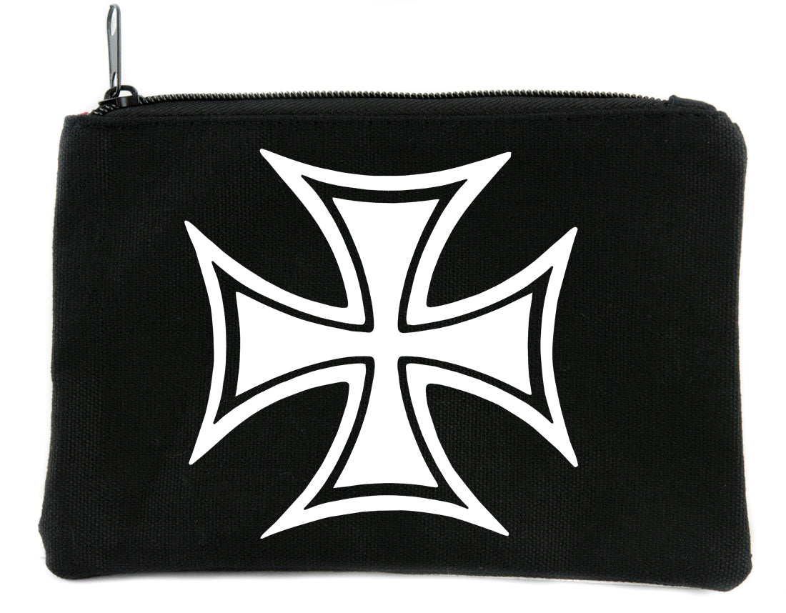 Iron Cross Symbol Cosmetic Makeup Bag Alternative Accessories World War II