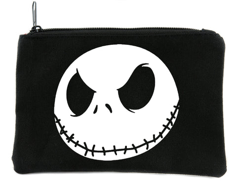 Evil Grin Jack Skellington Face Cosmetic Makeup Bag Nightmare Before Christmas