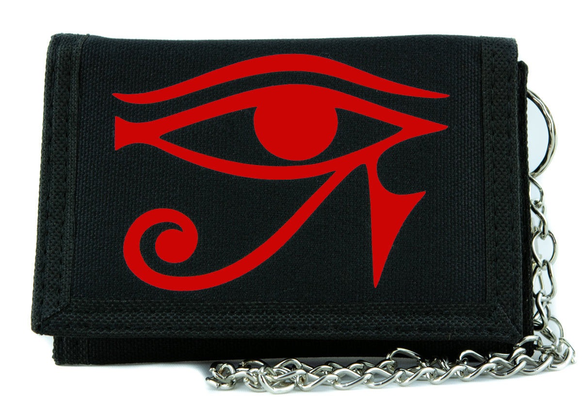 Red Egyptian God Eye of Ra Tri-fold Wallet Gothic Style Alternative Clothing Horus Anime Cosplay