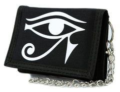 Egyptian God Eye of Ra Tri-fold Wallet Gothic Style Alternative Clothing Horus Anime Cosplay