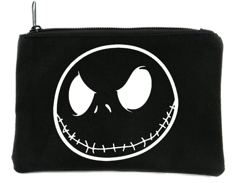 Negative Jack Skellington Face Cosmetic Makeup Bag Nightmare Before Christmas