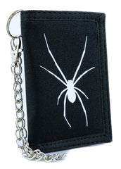 Halloween Black Widow Spider Tri-fold Wallet Gothic Style Scary Alternative Clothing