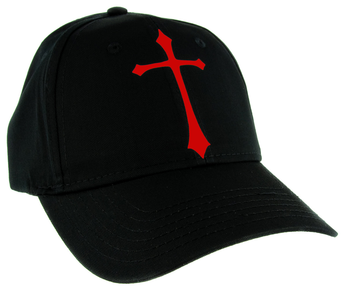 Red Medieval Holy Gothic Cross Hat Baseball Cap Deathrock Alternative Clothing Snapback