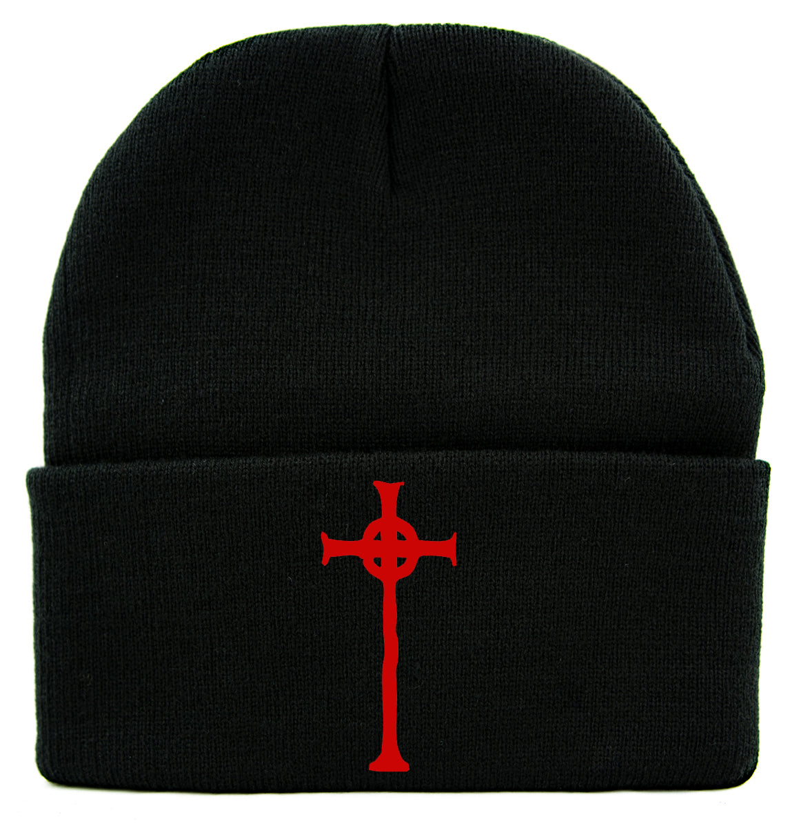 Red Vampire Hunter D Cross Tombstone Cuff Beanie Knit Cap Anime Horror Alternative Clothing
