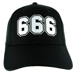 666 Number of the Beast Hat Baseball Cap Occult Metal Alternative Clothing Snapback