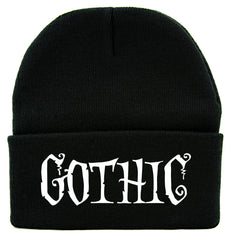 Gothic Horror Cuff Beanie Knit Cap Halloween Deathrock Occult Alternative Clothing